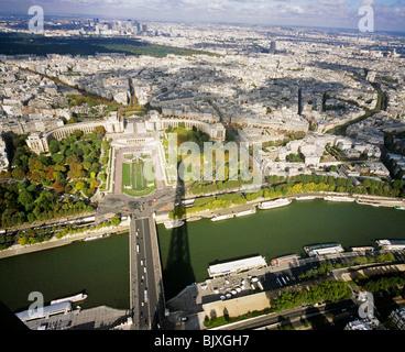 Shadow of Eiffel Tower - Stock Photo