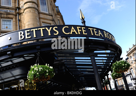 The famous Bettys Cafe Tea Rooms in Harrogate Yorkshire UK - Stock Photo