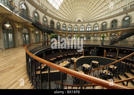 The impressive interior of the Corn Exchange, a grade 1 listed Victorian building in Leeds, West Yorkshire - Stock Photo