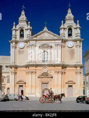 St Paul's Cathedral, Mdina, Malta. - Stock Photo