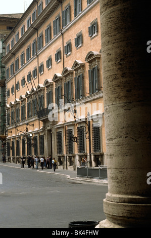 Palazzo Chigi is a palace or noble residence in Rome and the official residence of the Prime Minister of the Italian - Stock Photo