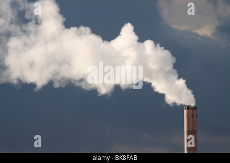 Chimney of an incinerator, Bonn, Germany, Europe - Stock Photo