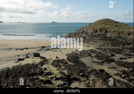 Whitesands Bay in Pembrokeshire West Wales - Stock Photo