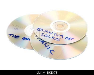 Copied DVDs - Stock Photo