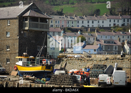 New Quay, a small village town on Cardigan Bay, once the home of Dylan Thomas, Ceredigion, Wales UK - Stock Photo