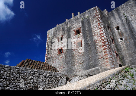 Pile of Cannonballs in front of the Citadel in Northern Haiti, Milot - Stock Photo