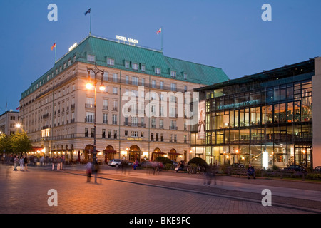 Hotel Adlon and Academy of arts at Paris square in Berlin, Germany - Stock Photo