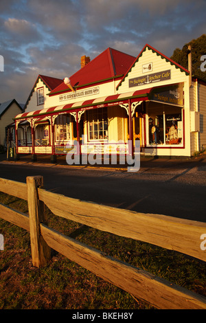 Historic Shops, Church Street, Stanley, Northwest Tasmania, Australia - Stock Photo