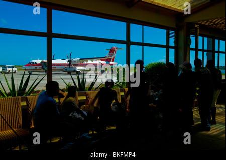AIRPORT OF RODRIGUES ISLAND, MAURITIUS REPUBLIC - Stock Photo