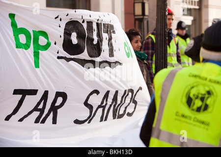 Demonstrators at the Wave in London, against climate change. - Stock Photo