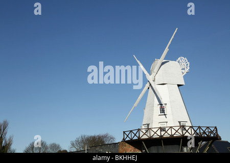 The fully restored and Grade two listed windmill in Rye, East Sussex, England, UK - Stock Photo