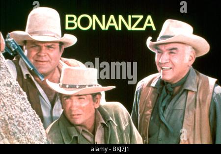 BONANZA (TV) DAN BLOCKER, MICHAEL LANDON, LORNE GREENE BNZ 014 - Stock Photo