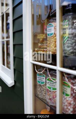 Traditional sweets for sale in Arrowtown, Otago, New Zealand - Stock Photo