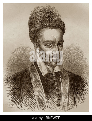 Henry III of France (1551-1589): King of France from 1574 to 1589. - Stock Photo