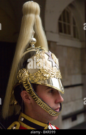 England, London. A Guardsman in the Household Cavalry. - Stock Photo