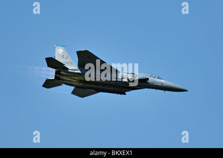 F-15 Eagle in Flight at the 2010 Thunder Over Louisville Air Show in Louisville, Kentucky - Stock Photo