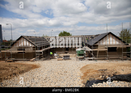 New building under construction using hemcrete Kettering UK - Stock Photo