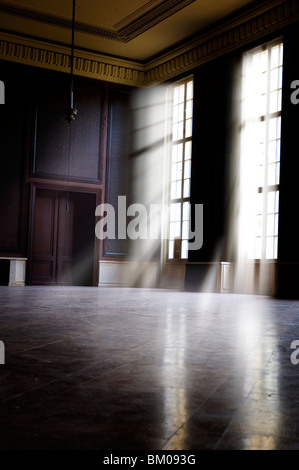 Large empty room in old barracks - Stock Photo