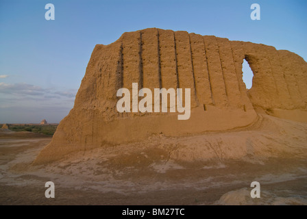 Great Kyz Kala, in the ancient ruins of Merv, UNESCO World Heritage Site, Turkmenistan, Central Asia, Asia - Stock Photo