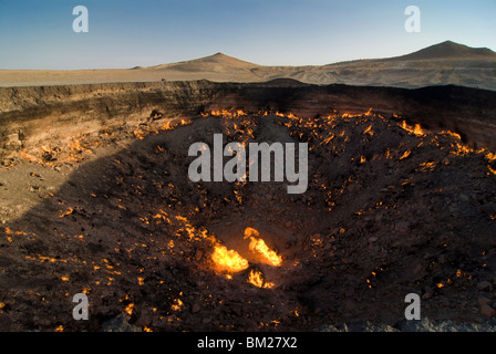Darvaza Gas crater, Turkmenistan, Central Asia, Asia - Stock Photo