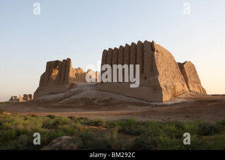 Ruins of Great or Big Kyz Kala Palace at ancient silk road city of Merv ( Mary ) in Turkmenistan. - Stock Photo