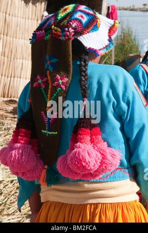 Uros Island, Lake Titicaca, Peru, South America - Stock Photo
