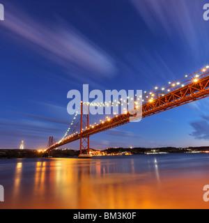 25 de Abril bridge - Stock Photo