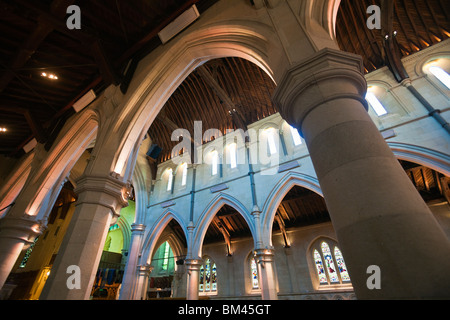Interior of the Christ Church Cathedral. Christchurch, Canterbury, South Island, New Zealand - Stock Photo