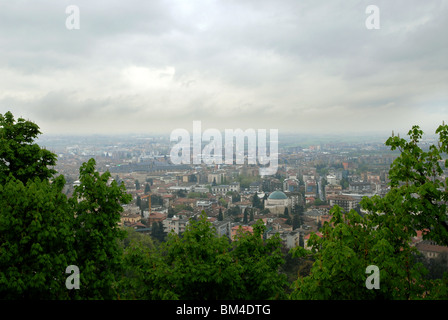 View over Bergamo, Lombardy, Italy. - Stock Photo