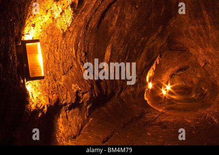 Thurston Lava Tube, Volcanoes National Park, Kilauea, Big Island, Hawaii, USA - Stock Photo