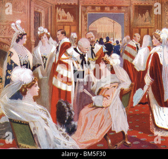 The Ante Room of the House of Peers, 1914 - Stock Photo