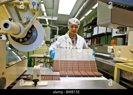 Chocolate factory Stella, Giubiasco, Canton Ticino, Switzerland - Stock Photo