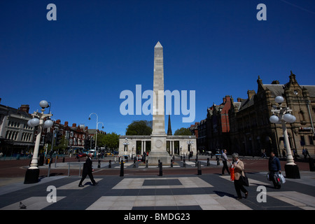 war memorial lord street southport merseyside england uk - Stock Photo
