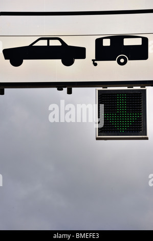 Scandinavia, Sweden, Gothenburg, View of road sign, low angle view - Stock Photo