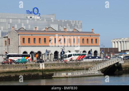 The O2 arena seen from the River Liffey Dublin Ireland - Stock Photo