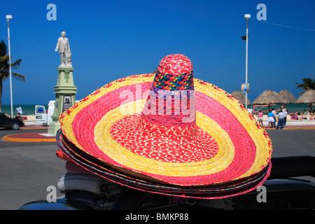 Mexican hats ; Progresso ; Mexico - Stock Photo