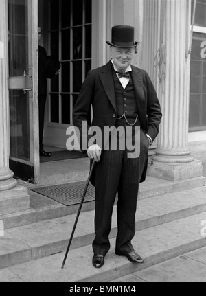 Vintage 1920s photo of Winston Churchill (1874 - 1965) - Conservative (formerly Liberal) statesman and twice UK - Stock Photo