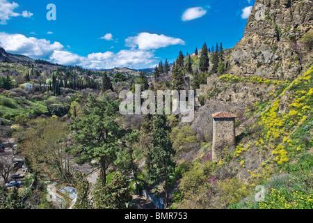View from Narikala CastleTbilisi, Georgia - Stock Photo