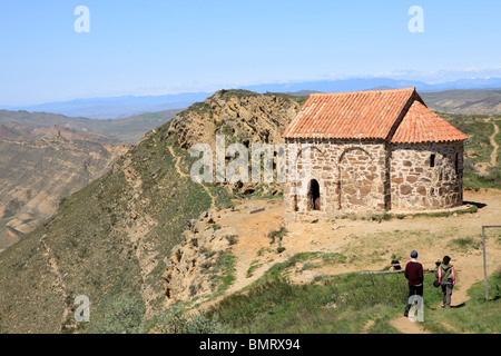 David Gareja monastery complex, Georgia, Azerbaijan border - Stock Photo