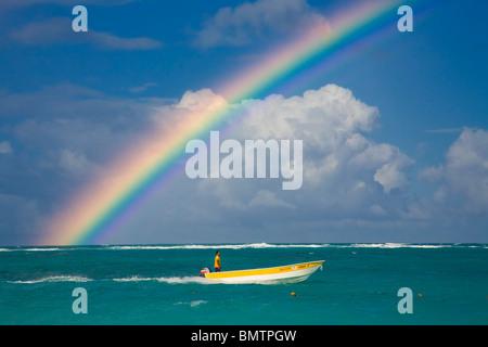 Dominican Republic, La Altagracia Province, Punta Cana, Playa Bavaro - Stock Photo