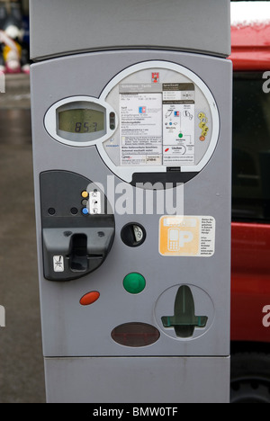 Parking ticket machine Berlin Germany - Stock Photo