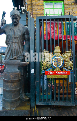 Gate to the Stables Market Camden Town north London England UK Europe - Stock Photo