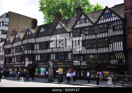 Tudor Staple Inn Building, High Holborn, Holborn, London Borough of Camden, Greater London, England, United Kingdom - Stock Photo