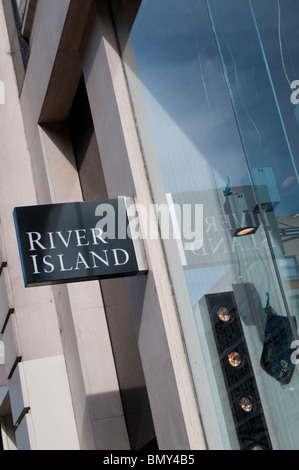 River Island shop on Oxford Street, London, UK - Stock Photo