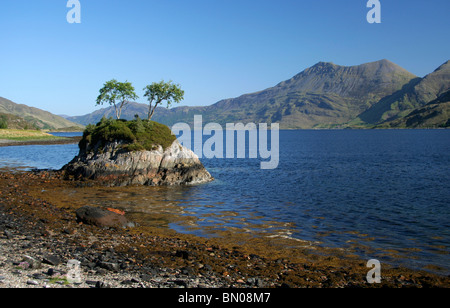 Beinn Sgritheall and Loch Hourn from Knoydart - Stock Photo