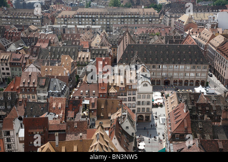 Old town, Strasbourg, Alsace, France, Europe - Stock Photo