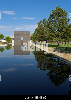 The Oklahoma City National Memorial. - Stock Photo