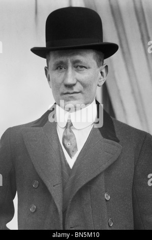 Italian inventor, scientist + radio pioneer Guglielmo Marconi (1874 - 1937) - co-winner of the 1909 Nobel Prize - Stock Photo