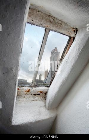 old skylight window - Stock Photo
