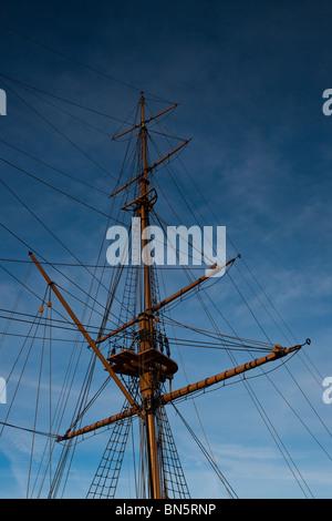 HMS Gannet, Chatham Historic Dockyard, South East, Kent, England, UK - Stock Photo